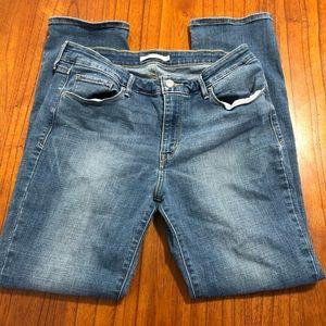 Levi mid-rise skinny jeans